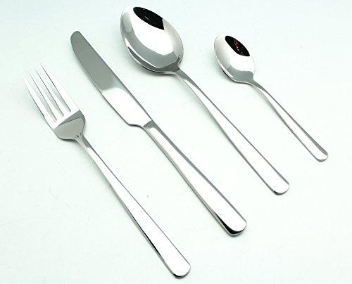 EXZACT Premium 16 teiliges Besteckset aus rostfreiem Stahl/ Edelstahl-Besteck - 4 Gabeln, 4 Messer, 4 Esslöffel, 4 Teelöffel (EX994 x 16)