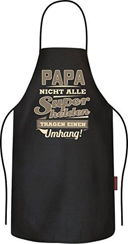 Original RAHMENLOS® BBQ Grillschürze, das Geschenk für den Vater: Papa, nicht alle Superhelden tragen einen Umhang!