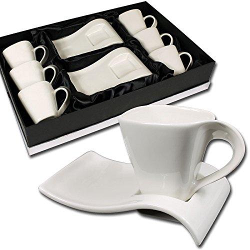 12 tlg.Espressotassen Set im edlen Design mit Geschenkkarton