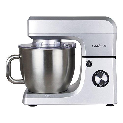 Cookmii Küchenmaschine 1800W Hohe Energie Knetmaschine 6.5 Liter-Rührschüssel, 6-stufige Geschwindigkeit Teigmaschine