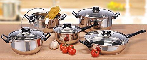 10 Tlg. Kochtopfset Kochtopf + Pfanne Single Küche Studenten Set Kochset