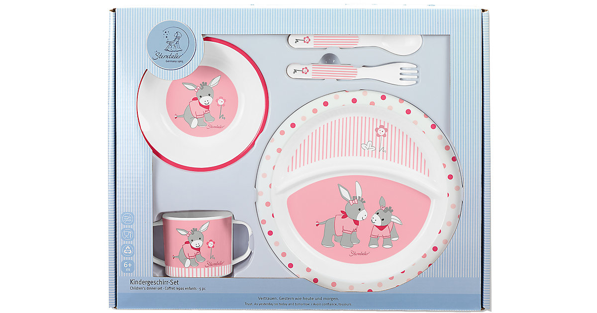 Kindergeschirr Emmi Girl, 5-tlg. Set, rosa/pink