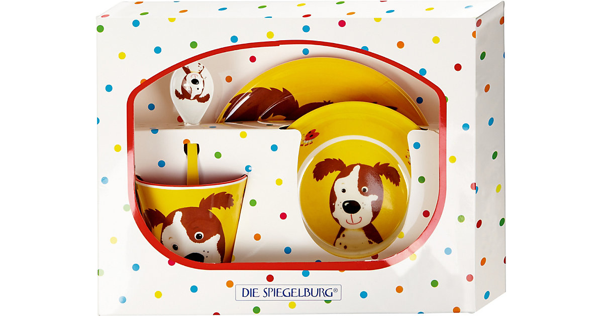 Freche Rasselbande: Melamin-Geschenkset Hund