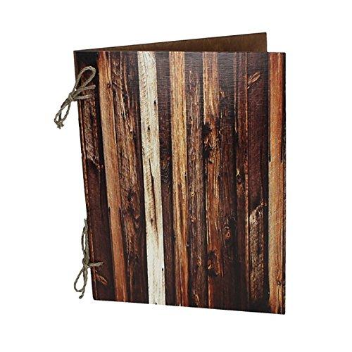 Edel Holz Speisekarte A4 Weinkarte Getränkekarte Menükarte Kartenmenü Restaurant Brauhaus Speise D1