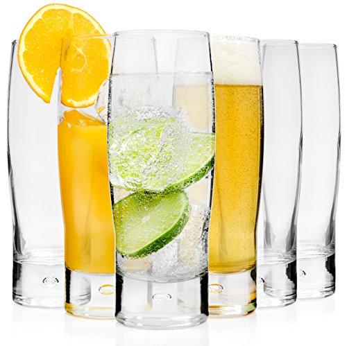 Bluespoon Gläserset 'Bubble' 6 teilig 39,5 cl | Wunderschönes Longdrinkglas für Heiß- und Kaltgetränke | Perfekt auch als Alltags- oder Cocktailglas |