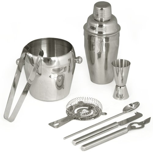 TecTake® Cocktailshaker Cocktail Set 8-teilig Shaker Bar Mixer