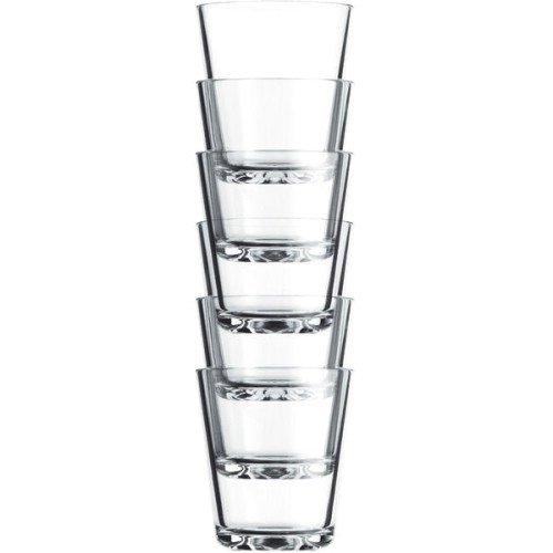 Eva Solo 567425 Trinkgläser, 6 Stück, 250 ml, Gehärtetes-Glas, Transparent