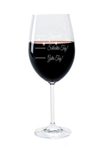 """Leonardo Weinglas mit Gravur Motiv """"good day"""" Wein-Glas graviert"""