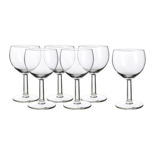 """IKEA 6-er Set Weißweingläser """"Försiktigt"""" Gläserset mit sechs Weingläsern - mit 16cl Inhalt - spülmaschinenfest"""