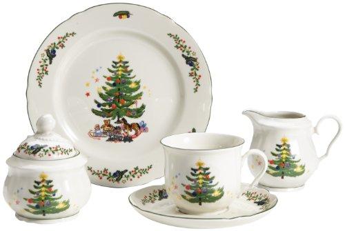 Seltmann Weiden 001.301290 Kaffeeservice Marie Luise Weihnachten, 20-teilig