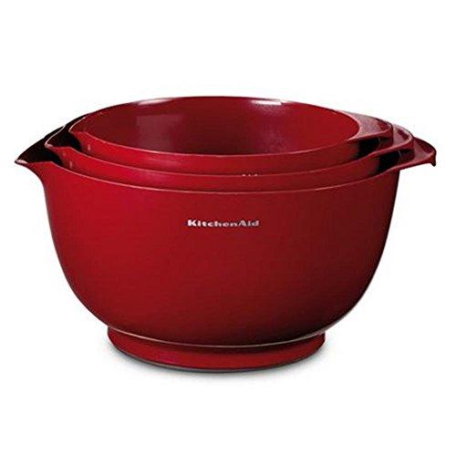 KitchenAid KG175ER Rührschüsseln, Kunststoff, 25 x 25 x 14,5 cm, empire rot