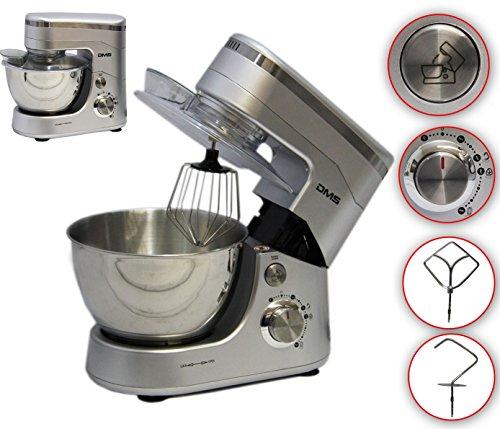 Küchenmaschine Rührmaschine Knetmaschine Teigkneter Silber 5L, 1400 W max. DMS®