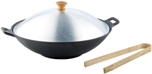 Tornwald-Schmiede Gusseisen Wok Set, 37cm