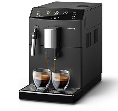 Philips HD8827/01 3000 Serie Kaffeevollautomat, klassischer Milchaufschäumer, schwarz