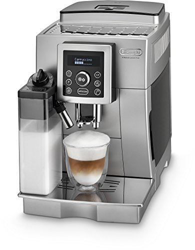 De'Longhi ECAM 23.466.S Kaffeevollautomat (Digitaldisplay, integriertes Milchsystem, Cappuccino auf Knopfdruck, Herausnehmbare Brühgruppe, 2-Tassen-Funktion) silber