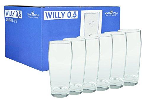 6er Set Bierglas Willibecher 0,5l geeicht