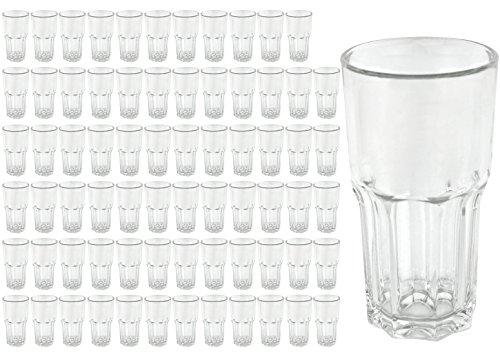 72 Longdrinkbecher GRANITY, 46 cl, Eichmarke bei 4 cl, Saftglas, Wasserglas, Trinkglas,Gastronomie