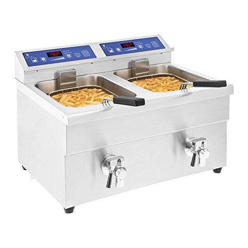 Royal Catering - Induktionsfritteuse Friteuse Heißluftfritteuse Fritteuse - RCIF-10DB - 2x 10 L - 2x 3500 W
