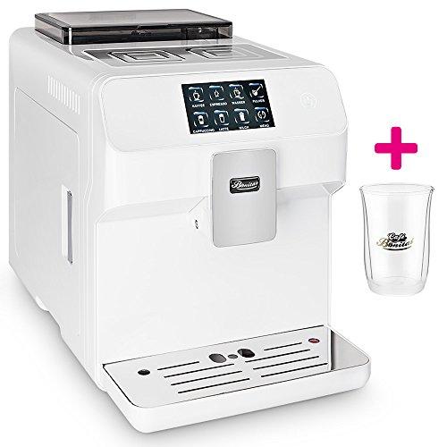 Kaffeevollautomat ONE-TOUCH✔ Café Bonitas✔ King-Star White✔ Touchscreen✔ Dualboiler✔ 19 Bar✔ Milchschaum-System✔ Vorbrühsystem✔ Latte Macchiato✔ Kaffee✔ Espresso✔ Cappuccino✔ heißes Wasser✔ Milchschaum✔ Kaffeeautomat✔ Kaffeemaschine✔