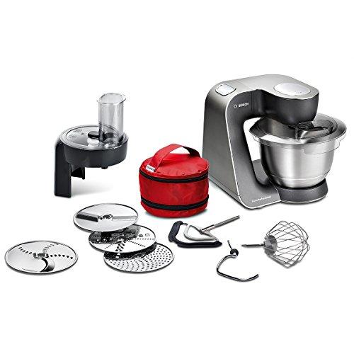 Bosch MUM59N26DE Küchenmaschine HomeProfessional, Rührschüssel, 3D Rührsystem, 7 Schaltstufen, 1000 W, mystic schwarz / edelstahl gebürstet