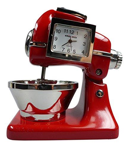 Küchenmaschine ca 8,5x6x4,5 cm - Vintage Uhr - Sammleruhr mit hochwertiger Geschenkbox
