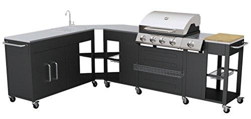Outdoor Küche mit Gasgrill und 4 Brenner Ohio / Gasgrillwagen